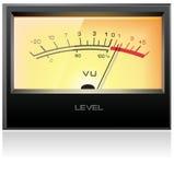 Analog electronic VU meter. Detailed Stock Images