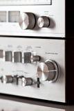Analog Electronics Stereo Volume Knob Control Royalty Free Stock Image