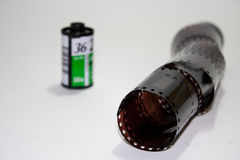Analog film roll with new film Royalty Free Stock Photography