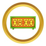 Analog flip clock vector icon, cartoon style Royalty Free Stock Images