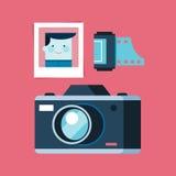 Analog fotografii wyposażenie, kamera, fotografia i film, royalty ilustracja