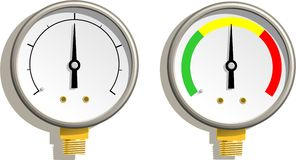 Analog Gauges. Vector illustration of two analog gauges Royalty Free Stock Images