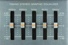 Analog graphic equalizer Stock Photo