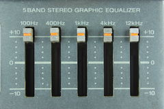 Analog graphic equalizer Stock Images