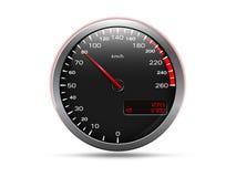 Analog hastighetsmätare royaltyfri illustrationer