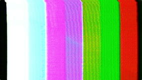 Analog HD Video Feedback Pattern Texture Distorted with Static stock video