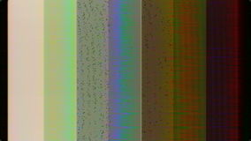 Analog HD Video Feedback Pattern Texture Distorted with Static stock footage