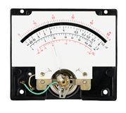 Analog measure tool multimeter scale with pointer. Isolated on the white background stock image