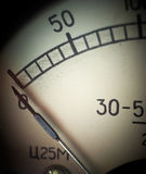 Analog measurement dial with arrow Royalty Free Stock Image