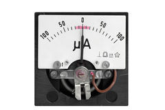 Analog micro ampere meter Stock Images