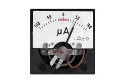 Analog micro ampere meter Royalty Free Stock Photography