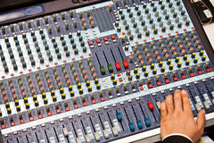 Analog mixing console Royalty Free Stock Images