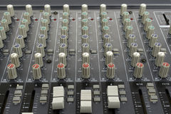Analog mixing console Royalty Free Stock Image