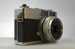 Compact Camera. Analog 35 mm compact camera Royalty Free Stock Photography