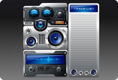 Analog Mp3 Player Royalty Free Stock Photography