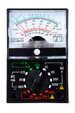 Analog multimeter. Isolated over white background stock photography