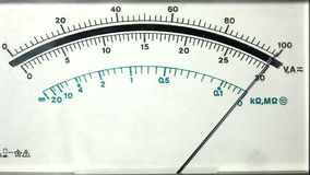 Analog multimeter display Stock Photos