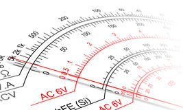 Analog multimeter scale Royalty Free Stock Image