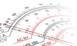 Analog multimeter scale Royalty Free Stock Image