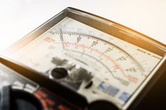 Analog multimeter scale Stock Photos