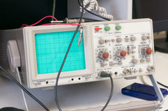 Analog oscilloscope Stock Image