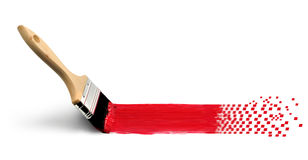 Analog paintbrush turning digital concept Royalty Free Stock Images