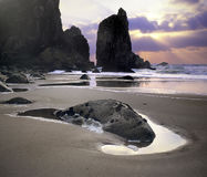 Analog photography of Bear Beach Stock Images