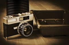 Analog photography equipment Stock Photo