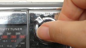 Analog Radio stock video footage