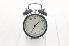 Analog retro alarm clock Stock Photo