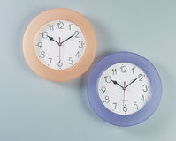 Analog round wall clock Stock Photos