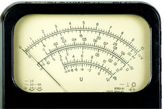 Analog scale. Vintage analog scale. Close-up stock photo