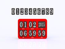 Analog scoreboard digital timer Royalty Free Stock Photography