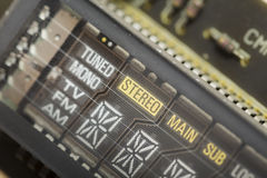 Analog screen panel of an old electronic radio Stock Images