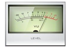 Analog signal VU Meter. With green display Stock Photography