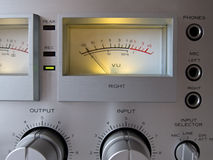 Analog Signal VU Meter Royalty Free Stock Image