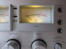 Analog Signal VU Meter. Closeup Royalty Free Stock Image