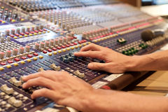 An analog soundboard Stock Image