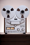 Analog Stereo Open Reel Tape Deck Recorder. With large reels stock photo