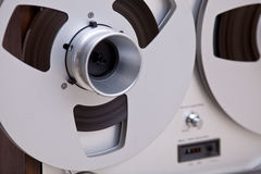 Analog Stereo Open Reel Tape Deck Recorder Stock Photography