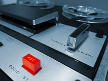 Analog Stereo Open Reel Tape Deck Recorder Stock Image