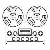 Analog stereo open reel tape deck recorder icon Stock Image
