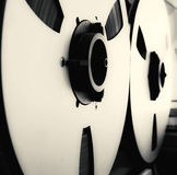 Analog Stereo Open Reel Tape Deck Recorder with large reels Royalty Free Stock Images