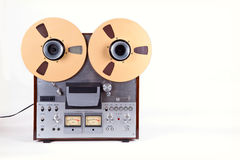 Analog Stereo Open Reel Tape Deck Recorder Player with Metal Ree Stock Image