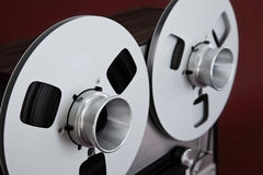 Analog Stereo Open Reel Tape Deck Recorder Spool Stock Photography