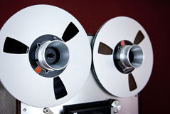 Analog Stereo Open Reel Tape Deck Recorder Spool Royalty Free Stock Photo