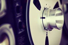 Analog Stereo Open Reel Tape Deck Recorder Spool Stock Images