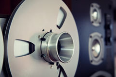 Analog Stereo Open Reel Tape Deck Recorder Spool Stock Image