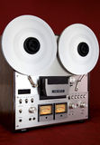 Analog Stereo Open Reel Tape Deck Recorder Vintage Royalty Free Stock Images