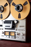 Analog Stereo Open Reel Tape Deck Recorder Vintage Stock Image